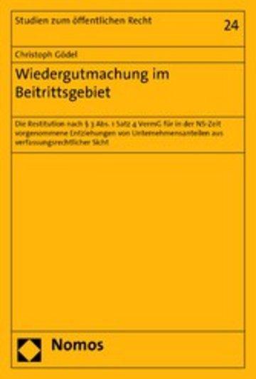 eBook Wiedergutmachung im Beitrittsgebiet Cover