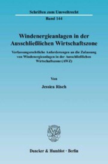eBook Windenergieanlagen in der Ausschließlichen Wirtschaftszone. Cover