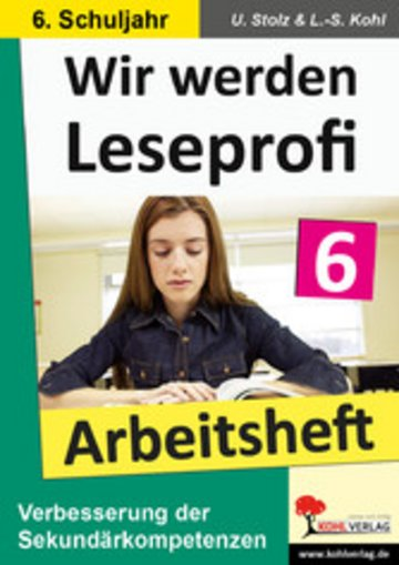 eBook Wir werden Leseprofi - Arbeitsheft / Klasse 6 Cover