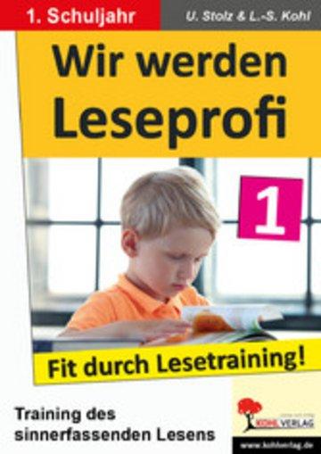 eBook Wir werden Leseprofi / Klasse 1 Cover