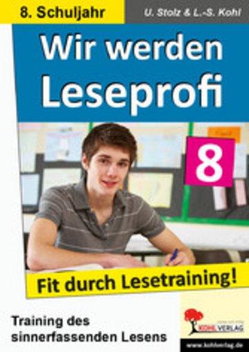 eBook Wir werden Leseprofi / Klasse 8 Cover