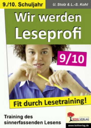 eBook Wir werden Leseprofi / Klasse 9-10 Cover