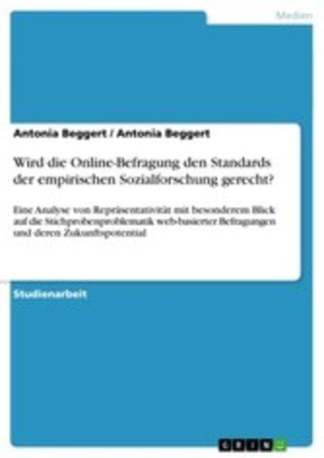 eBook Wird die Online-Befragung den Standards der empirischen Sozialforschung gerecht? Cover