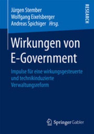 eBook Wirkungen von E-Government Cover