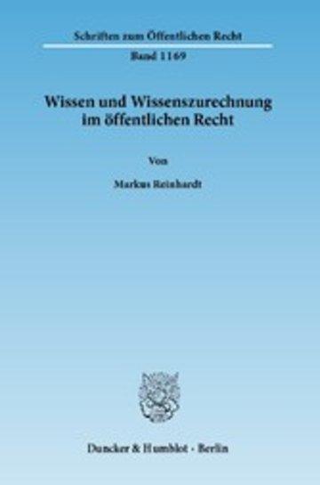eBook Wissen und Wissenszurechnung im öffentlichen Recht. Cover
