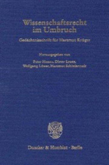 eBook Wissenschaftsrecht im Umbruch. Cover