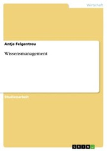 eBook Wissensmanagement Cover