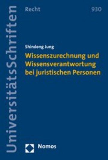 eBook Wissenszurechnung und Wissensverantwortung bei juristischen Personen Cover