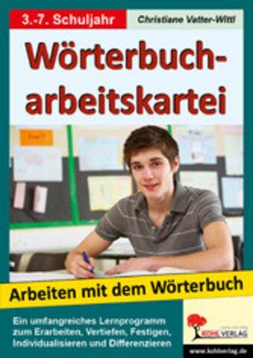 eBook Wörterbucharbeitskartei Cover