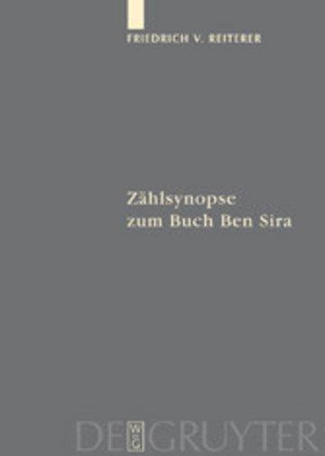 eBook Zählsynopse zum Buch Ben Sira Cover