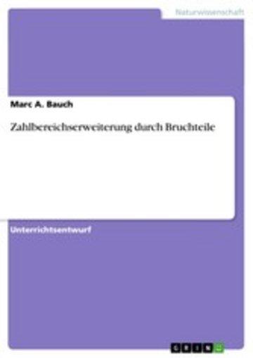 eBook Zahlbereichserweiterung durch Bruchteile Cover