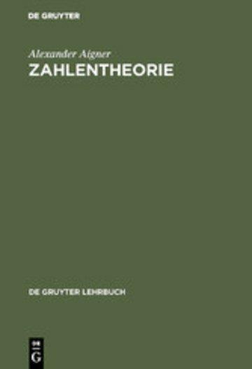 eBook Zahlentheorie Cover