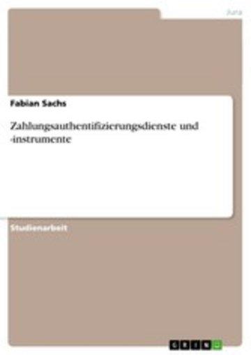eBook Zahlungsauthentifizierungsdienste und -instrumente Cover