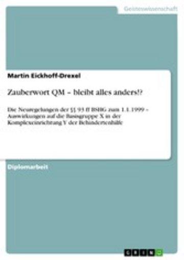 eBook Zauberwort QM - bleibt alles anders!? Cover