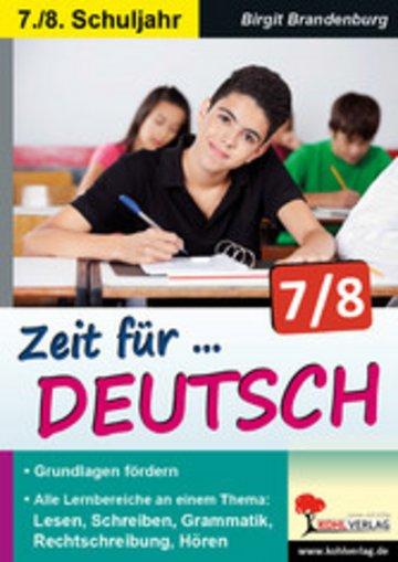 eBook Zeit für Deutsch / Klasse 7-8 Cover