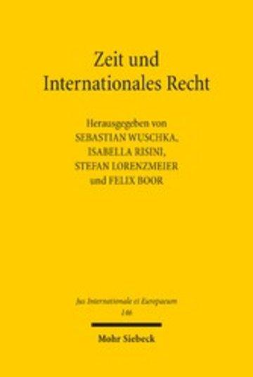 eBook Zeit und Internationales Recht Cover