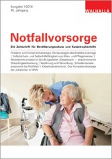 eBook Zeitschrift Notfallvorsorge Heft 01/2014 Cover