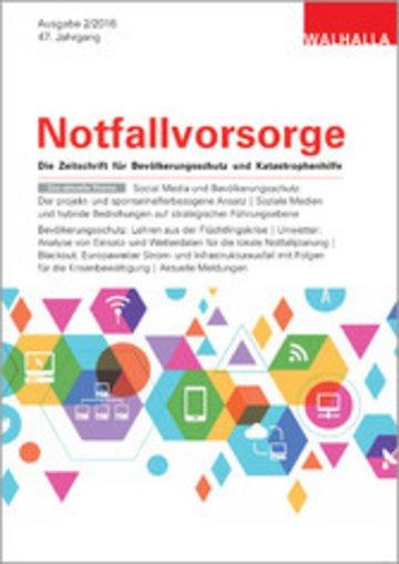 eBook Zeitschrift Notfallvorsorge Heft 02/2016 Cover