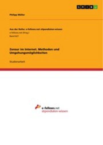 eBook Zensur im Internet. Methoden und Umgehungsmöglichkeiten Cover