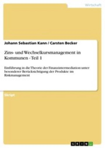 eBook Zins- und Wechselkursmanagement in Kommunen - Teil 1 Cover