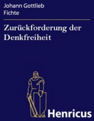 eBook Zurückforderung der Denkfreiheit Cover