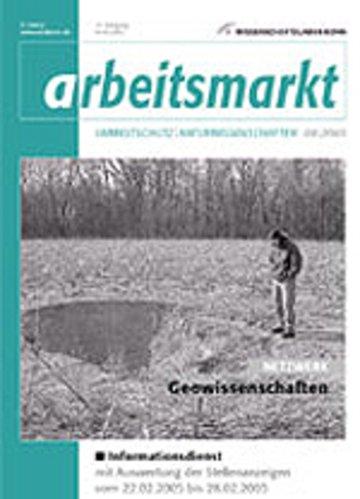Arbeitsmarkt Umweltschutz und Naturwissenschaften