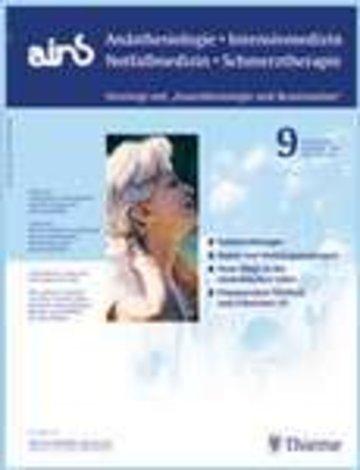 ains - Anästhesiologie - Intensivmedizin - Notfallmedizin - Schmerztherapie