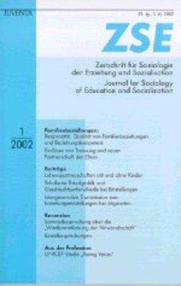 ZSE Zeitschrift für Soziologie der Erziehung und Sozialisation