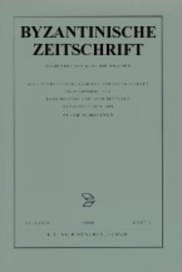 Byzantinische Zeitschrift