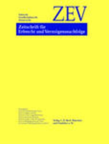 Zeitschrift für Erbrecht und Vermögensnachfolge (ZEV)