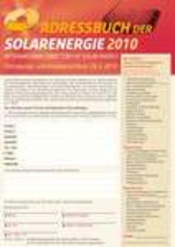 Adressbuch der Solarenergie