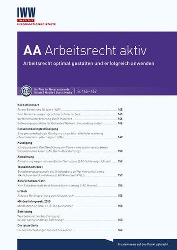 AA Arbeitsrecht aktiv