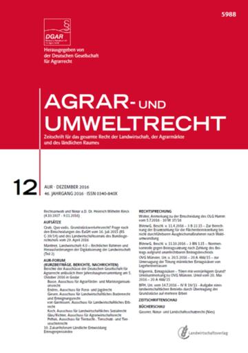 AGRAR- und UMWELTRECHT
