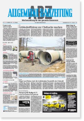 Allgemeine Bauzeitung Fachzeitschrift Architekten