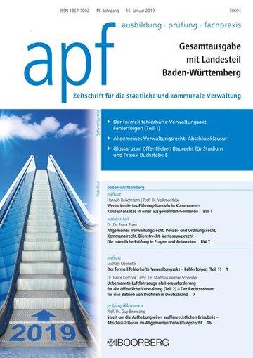 apf – Ausbildung – Prüfung – Fachpraxis (Gesamtausgabe mit Landesteil Baden-Württemberg)