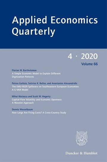Applied Economics Quarterly. Konjunkturpolitik.