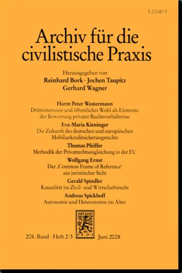 Archiv für die civilistische Praxis (AcP)