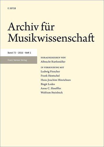Archiv fuer Musikwissenschaft