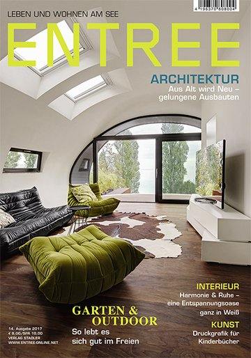 entree leben wohnen am see fachzeitschrift haus garten lifestyle wohnen. Black Bedroom Furniture Sets. Home Design Ideas