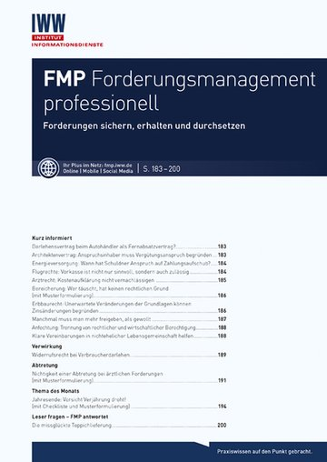 FMP Forderungsmanagement professionell