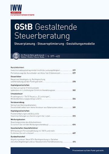 GStB Gestaltende Steuerberatung