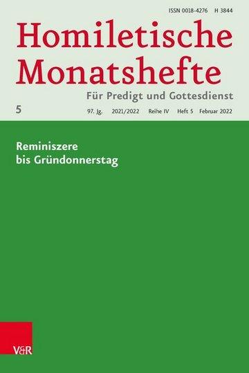 Homiletische Monatshefte