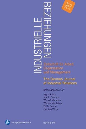 Industrielle Beziehungen – Zeitschrift für Arbeit, Organisation und Management