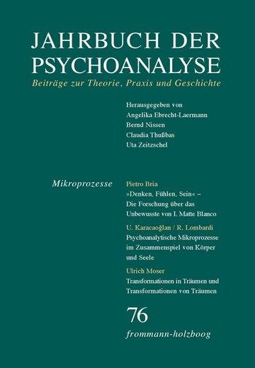 Jahrbuch der Psychoanalyse. Beiträge zur Theorie, Praxis und Geschichte