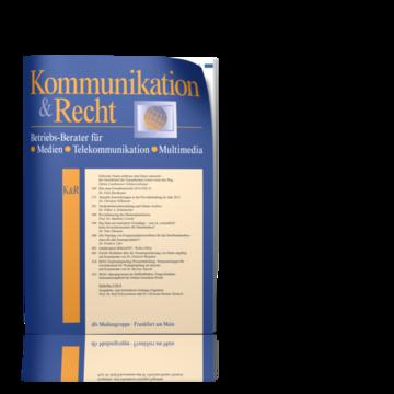 Kommunikation & Recht - K&R