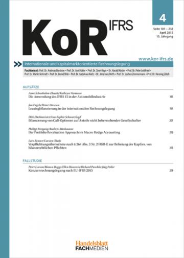 Kor Zeitschrift Für Internationale Und Kapitalmarktorientierte
