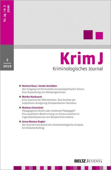 KrimJ - Kriminologisches Journal
