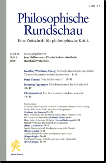 Philosophische Rundschau (PhR)