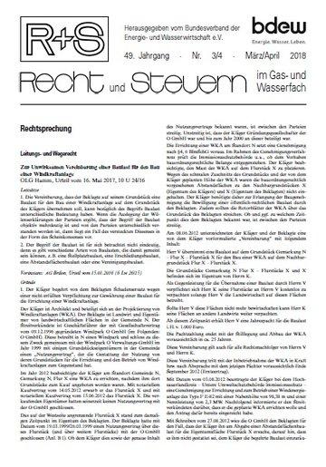 R + S - Recht und Steuern im Gas- und Wasserfach