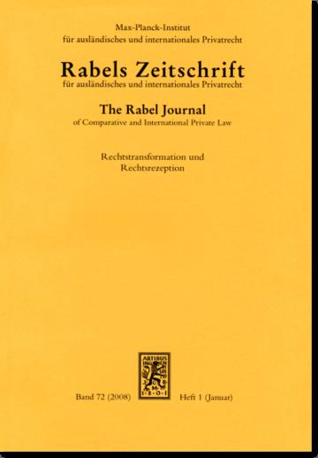 Rabels Zeitschrift für ausländisches und internationales Privatrecht (RabelsZ)